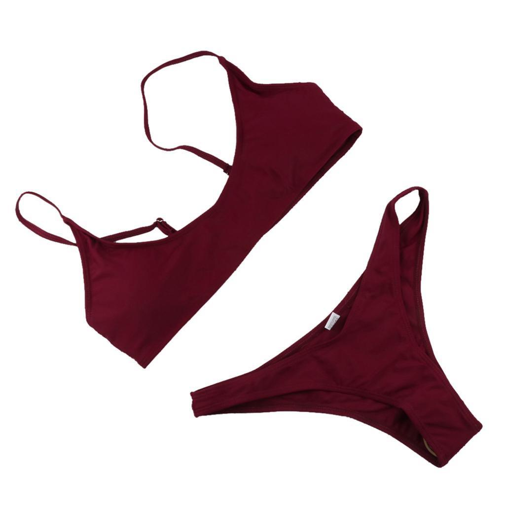 Damen-Bademode-Push-Up-Bikini-Set-Zweiteiliger-Badeanzug Indexbild 3