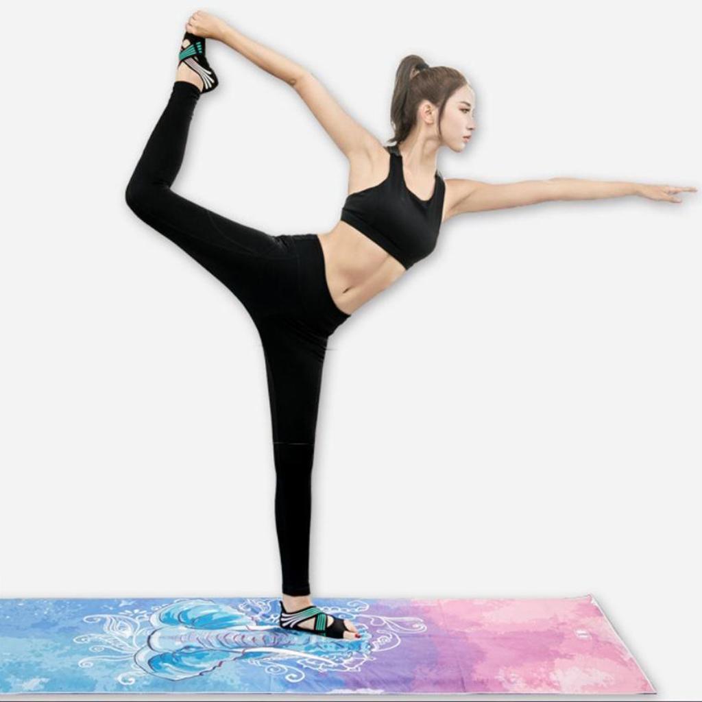 miniatura 42 - 1 Pair Delle Donne di Ballo di Formazione di Yoga Pilates Grip Calzini