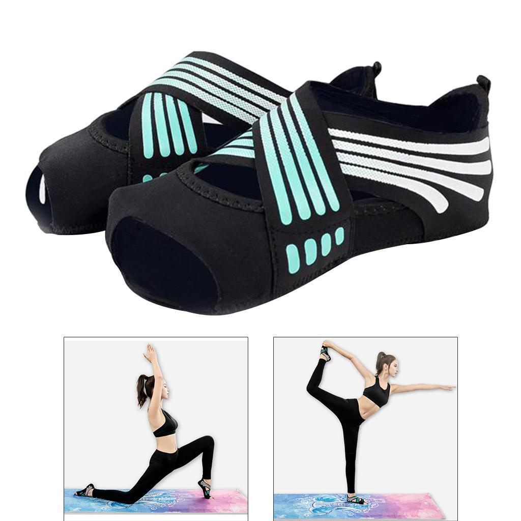 miniatura 50 - 1 Pair Delle Donne di Ballo di Formazione di Yoga Pilates Grip Calzini