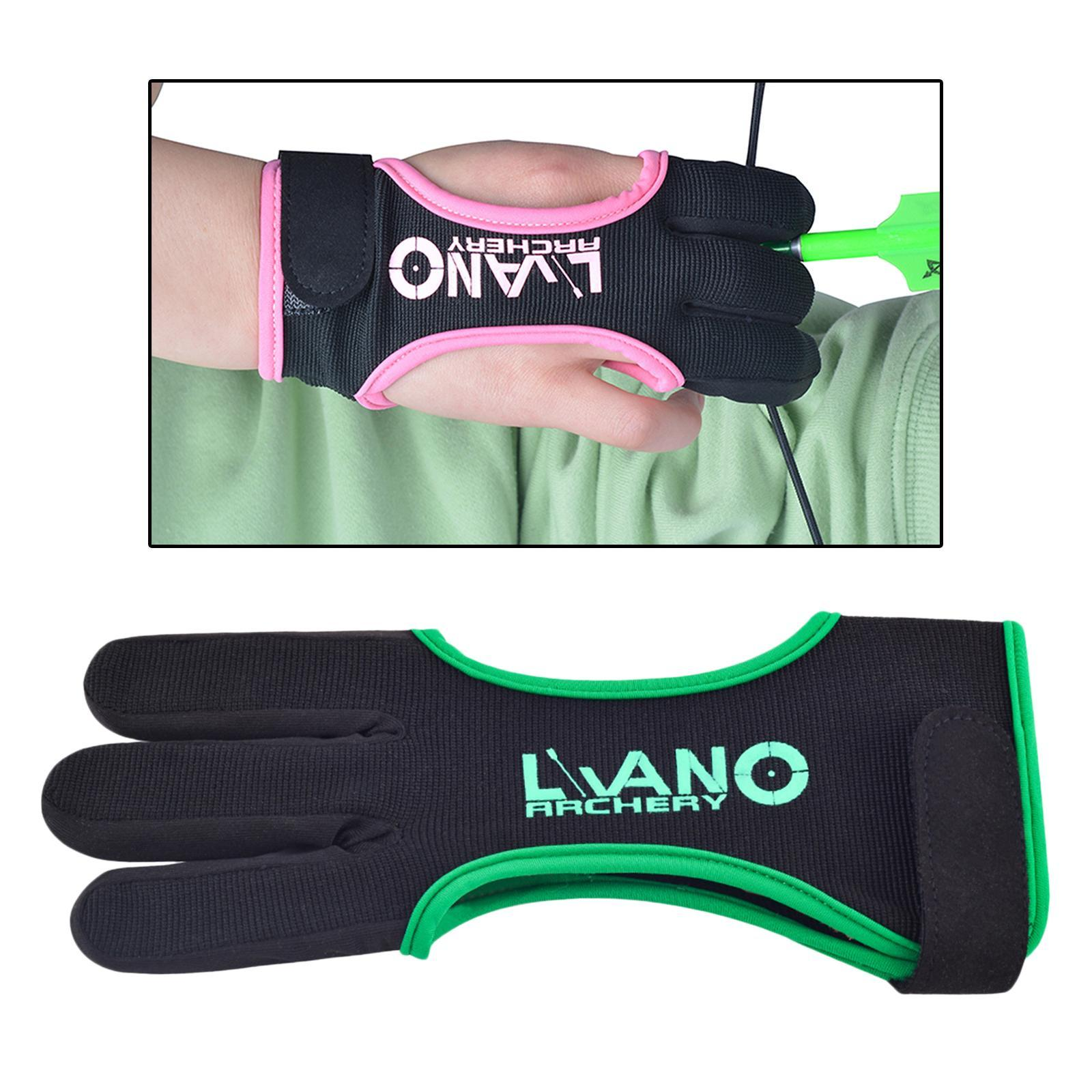 thumbnail 23 - Archery Glove for Recurve Compound Bow 3Finger Leather Guard for Women Men Youth