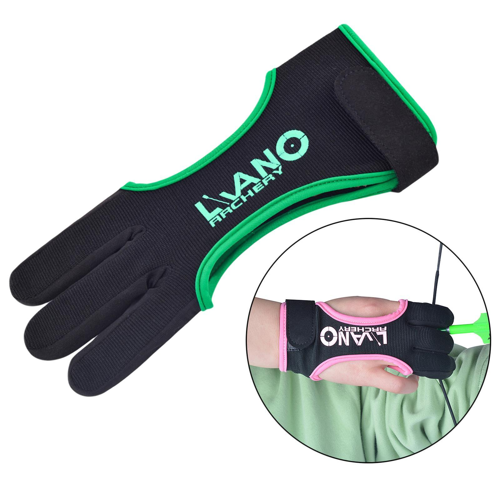 thumbnail 90 - Archery Glove for Recurve & Compound Bow 3 Finger Guard for Women Men Youth