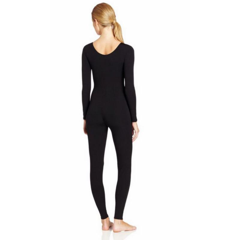 Scoop-Neck-Full-Body-Dance-Unitard-Bodysuit-Costume-Long-Sleeve-Unitard-Womens thumbnail 29