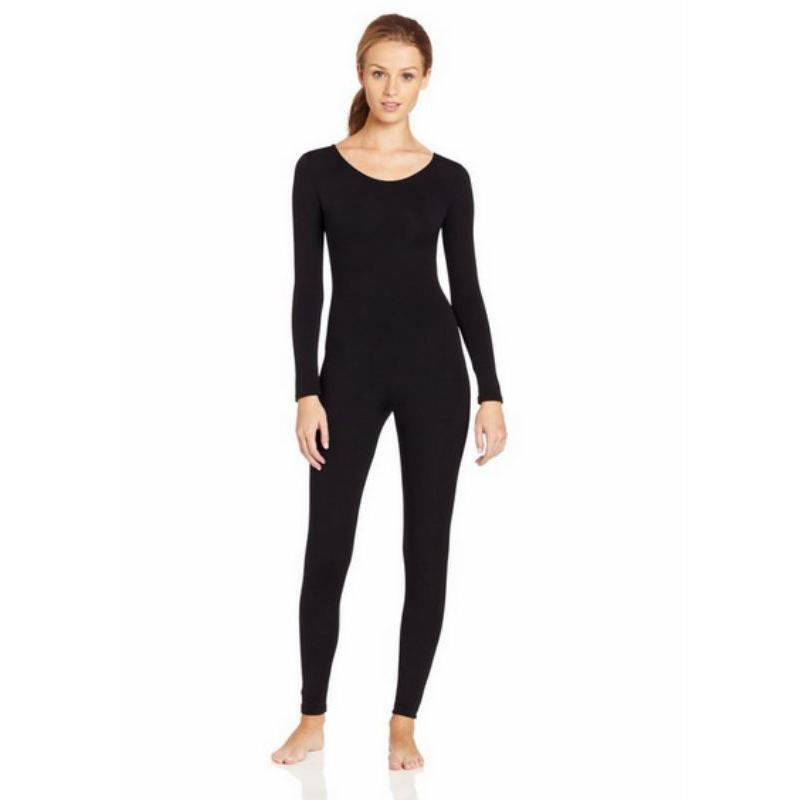 Scoop-Neck-Full-Body-Dance-Unitard-Bodysuit-Costume-Long-Sleeve-Unitard-Womens thumbnail 24