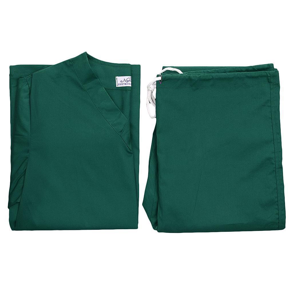 Men-Women-Scrub-Sets-Medical-Spa-Nursing-Clinic-Hospital-Uniform-Top-Pants miniature 50