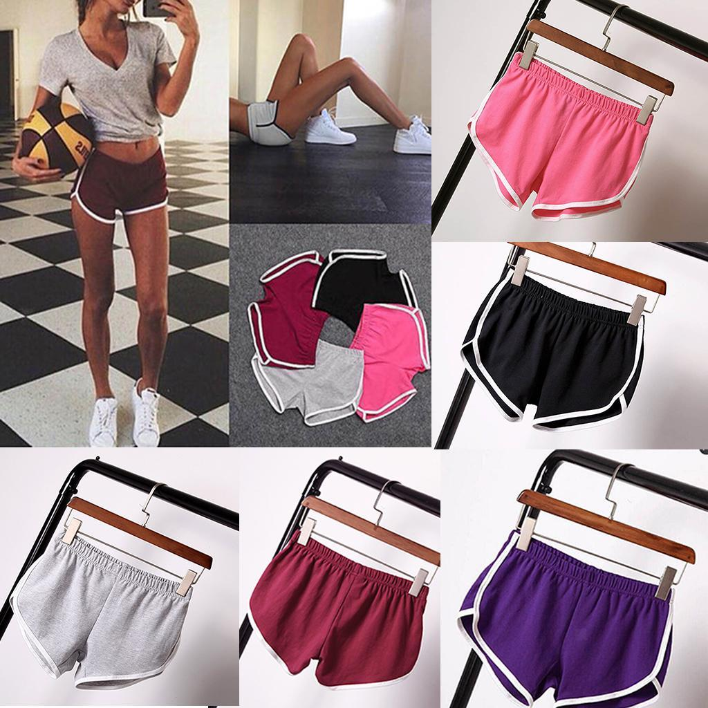Women-Teen-Girls-Yoga-Running-Workout-Shorts-Athletic-Elastic-Waist thumbnail 5