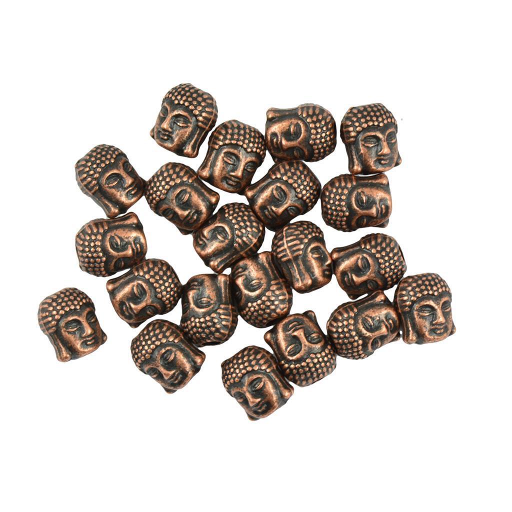 20 Stück tibetischen Silber 3d buddha spirituellen spacer Perlen Schmuck