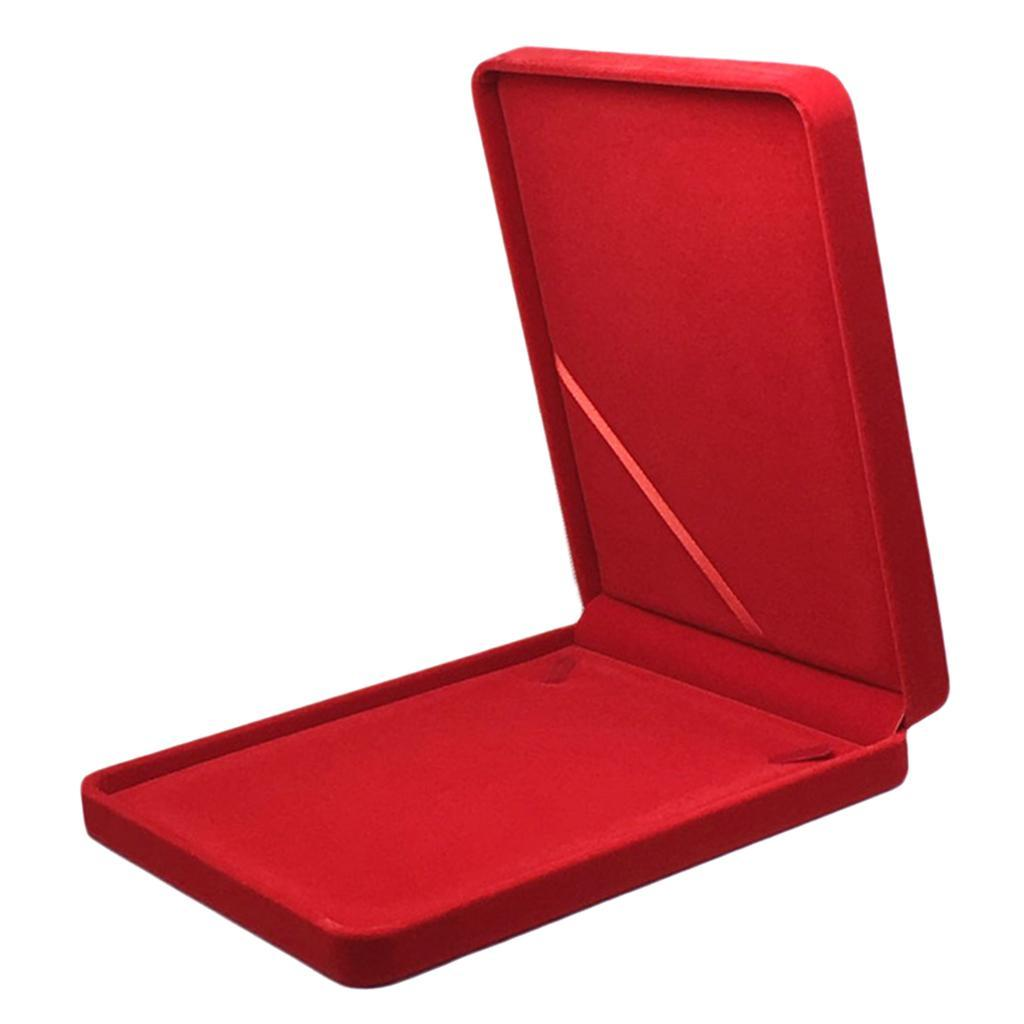 Portable-Velours-Collier-Boite-Chaine-Vitrine-Boite-cadeau-Voyage-Bijoux miniature 4