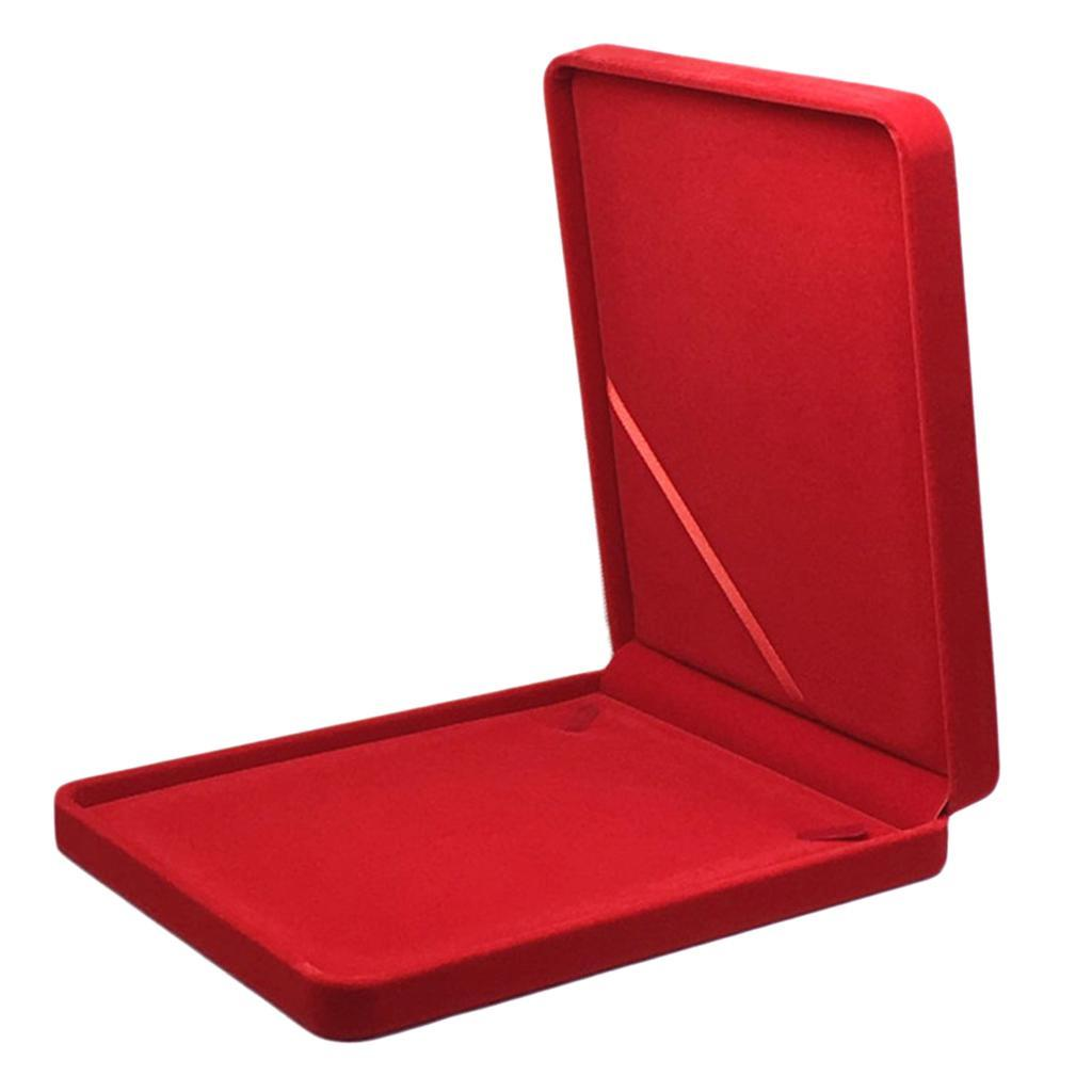 Portable-Velours-Collier-Boite-Chaine-Vitrine-Boite-cadeau-Voyage-Bijoux miniature 3