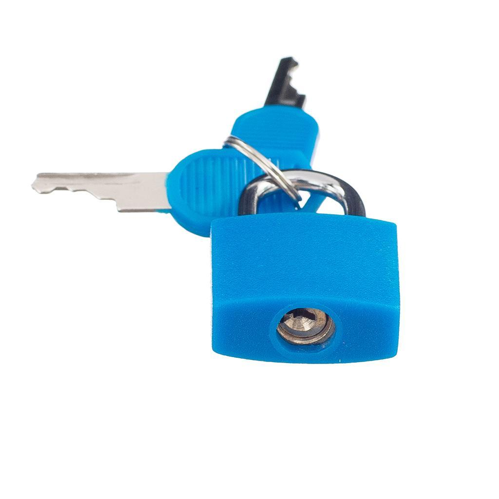 miniatura 21 - Lucchetto Piccolo Blocco Con 2 Chiavi Per Bagaglio Valigia Ventiquattrore