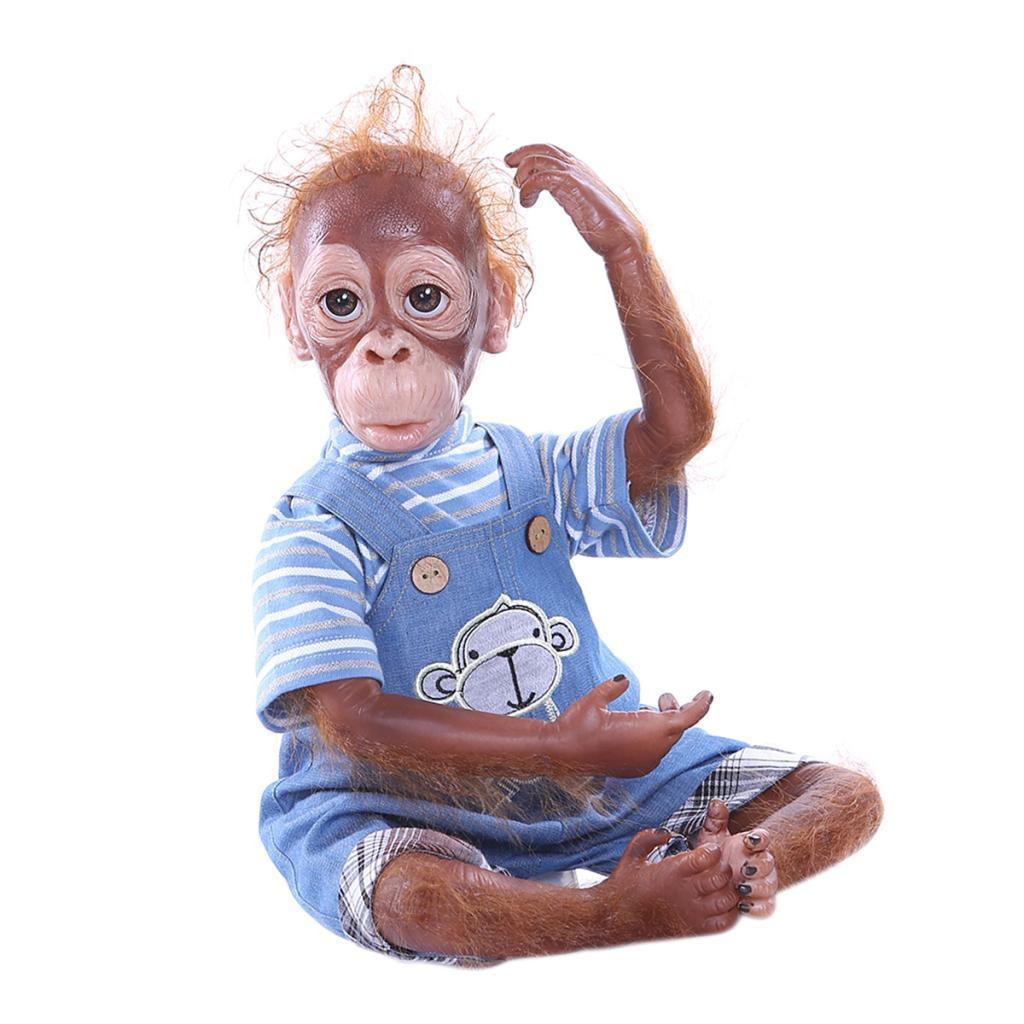 20inch Baby Monkey Doll Reborn Baby Orangutan Dolls W