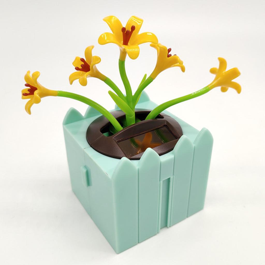 Cute-Dancing-Shaking-Swing-Flower-Blossom-Flowery-Bonsai-Toys-Office-Decor thumbnail 7