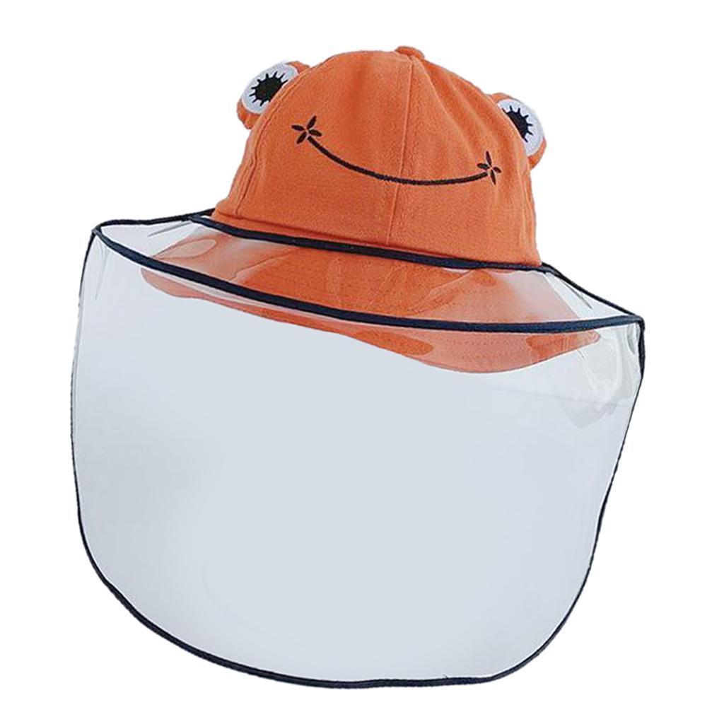 Baby-Transparent-Face-Shield-Anti-Spitting-Hat-Dust-Sun-Protective-Fishman-Caps thumbnail 12