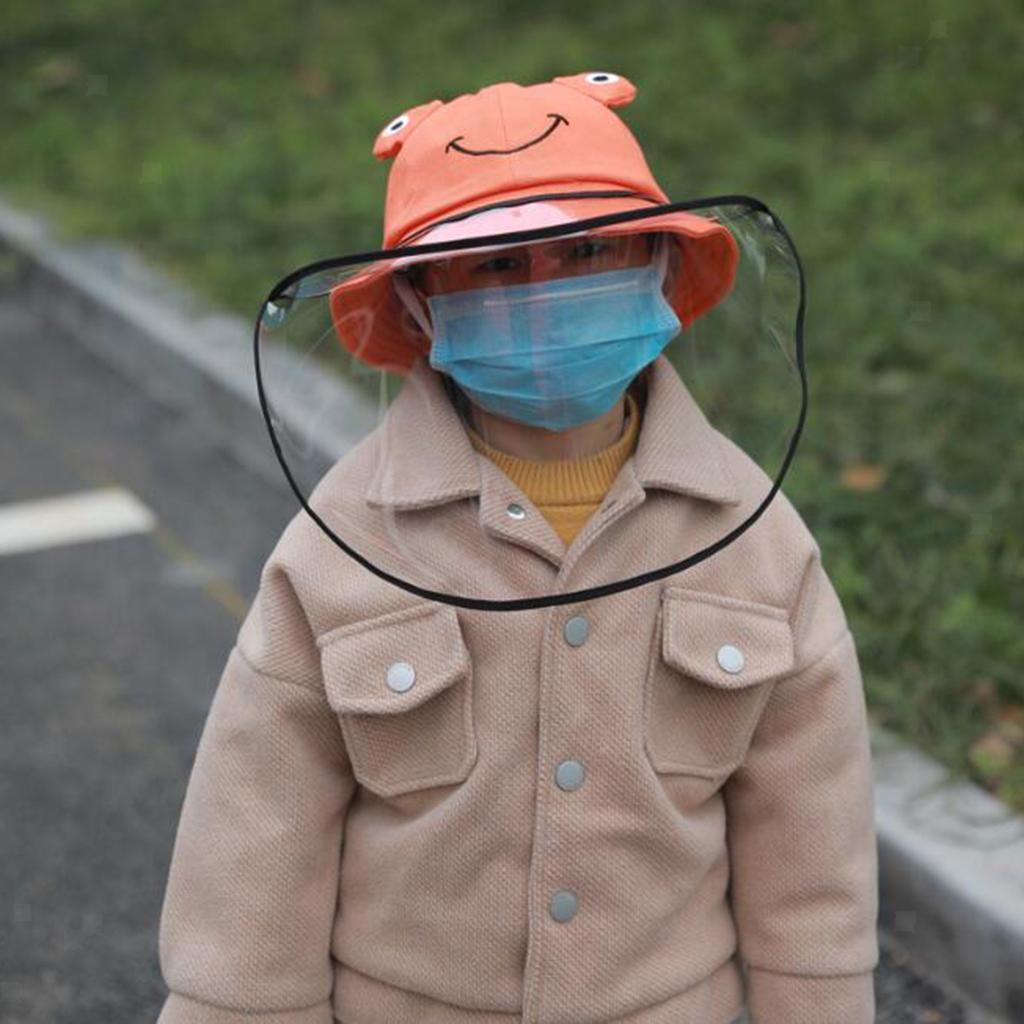 Baby-Transparent-Face-Shield-Anti-Spitting-Hat-Dust-Sun-Protective-Fishman-Caps thumbnail 13