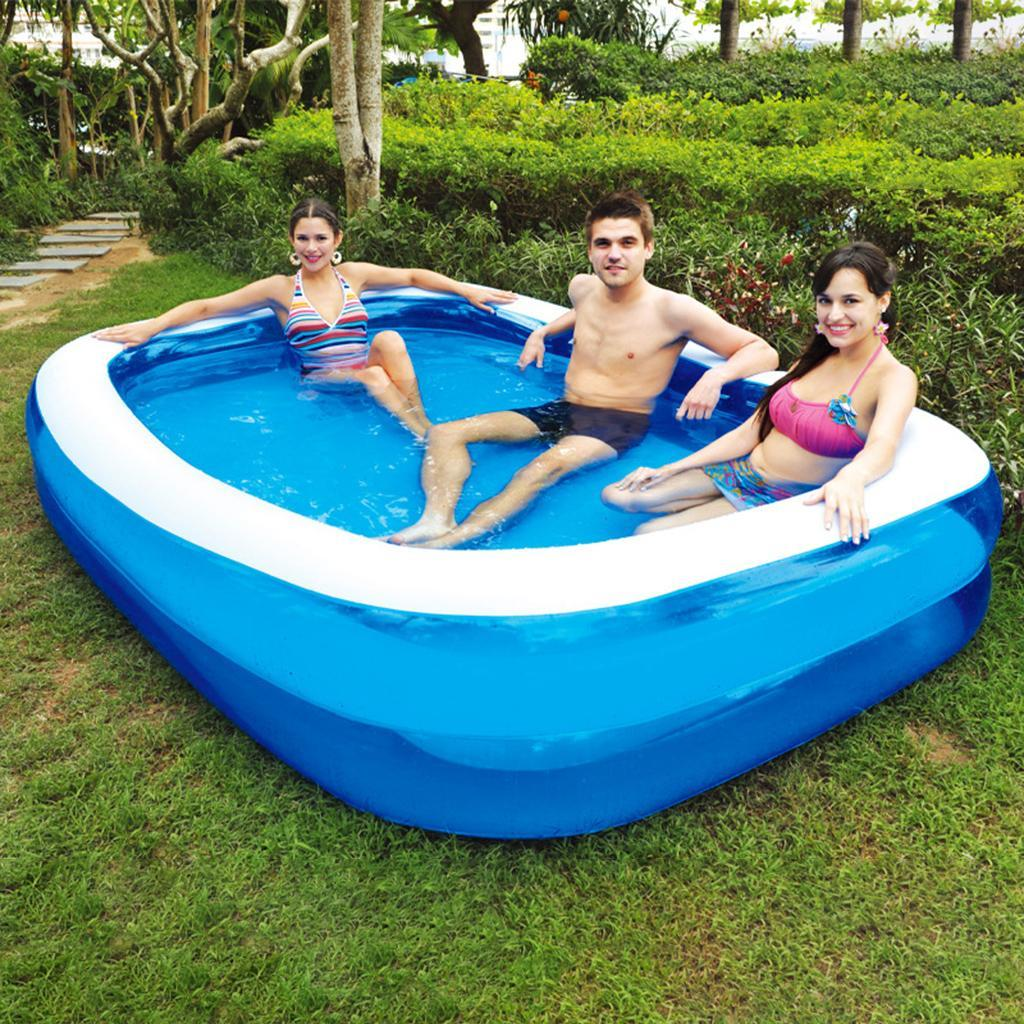 Inflatable Pool Blow up Kids Swimming Pool for Family ...