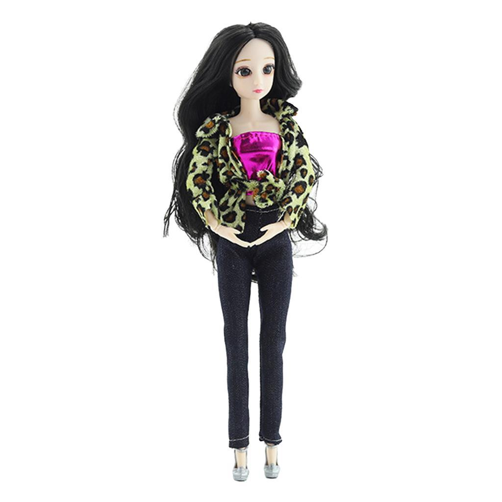 Ball-Jointed-Girl-Dolls-3D-Eyes-with-Clothes-Shoes-Fashion-Gifts-White-Toy thumbnail 16