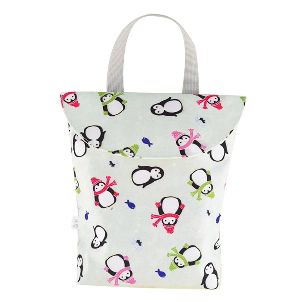 Baby-Diaper-Bag-Organizer-Fashion-Prints-Mummy-Storage-Bag-Outdoor-Reusable miniature 13
