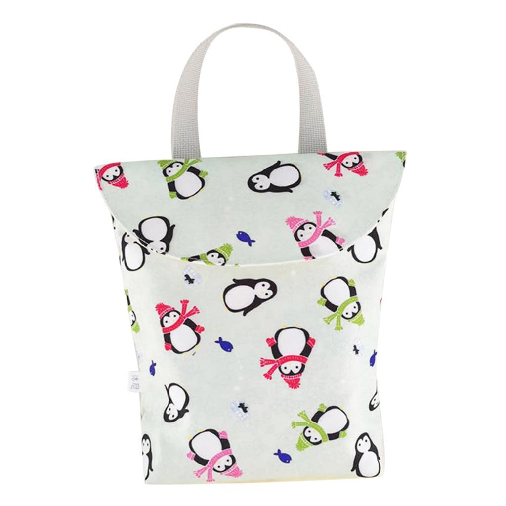Baby-Diaper-Bag-Organizer-Fashion-Prints-Mummy-Storage-Bag-Outdoor-Reusable miniature 14