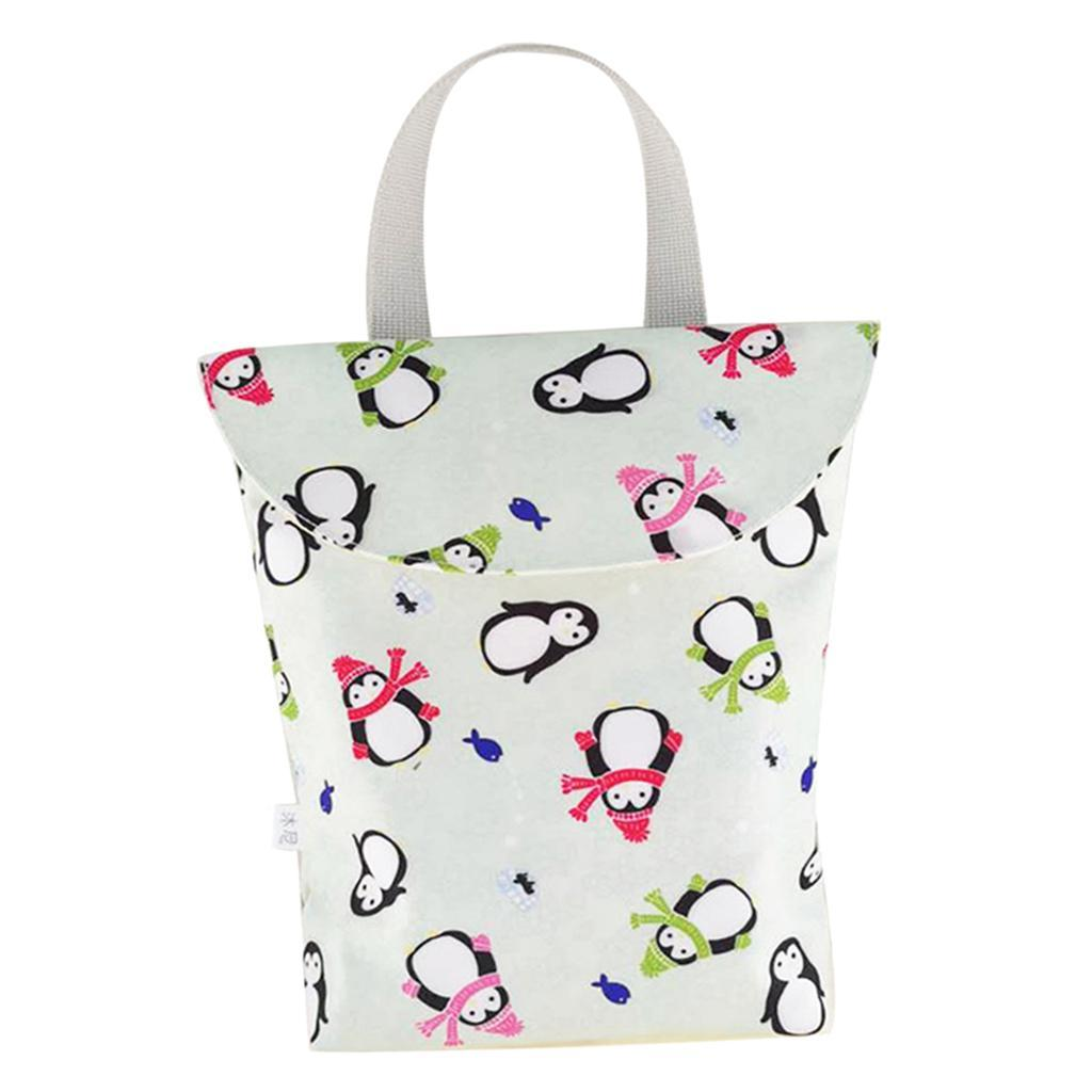 Baby-Diaper-Bag-Organizer-Fashion-Prints-Mummy-Storage-Bag-Outdoor-Reusable miniature 15