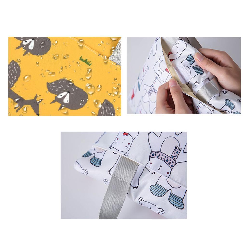 Baby-Diaper-Bag-Organizer-Fashion-Prints-Mummy-Storage-Bag-Outdoor-Reusable miniature 73