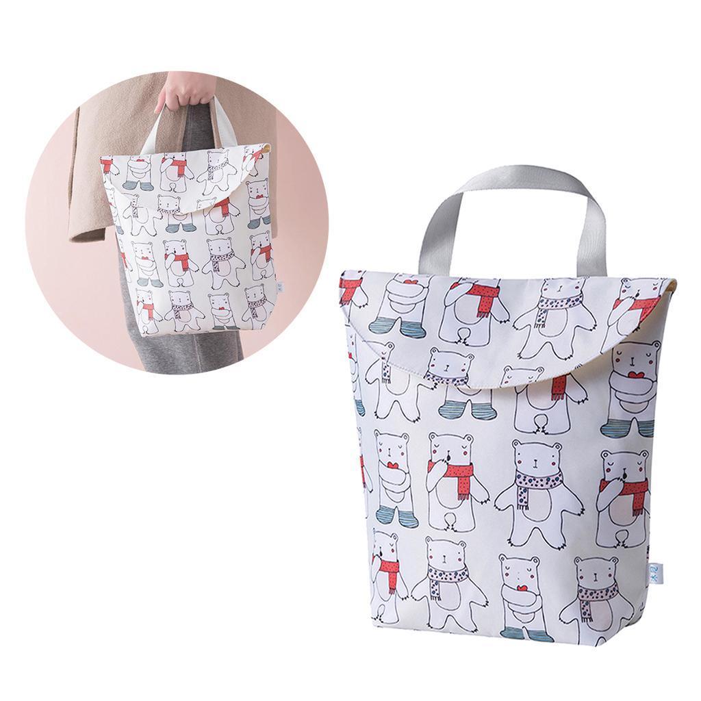 Baby-Diaper-Bag-Organizer-Fashion-Prints-Mummy-Storage-Bag-Outdoor-Reusable miniature 68