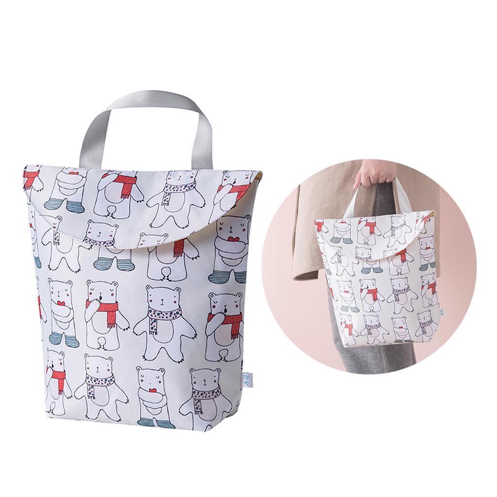 Baby-Diaper-Bag-Organizer-Fashion-Prints-Mummy-Storage-Bag-Outdoor-Reusable miniature 69