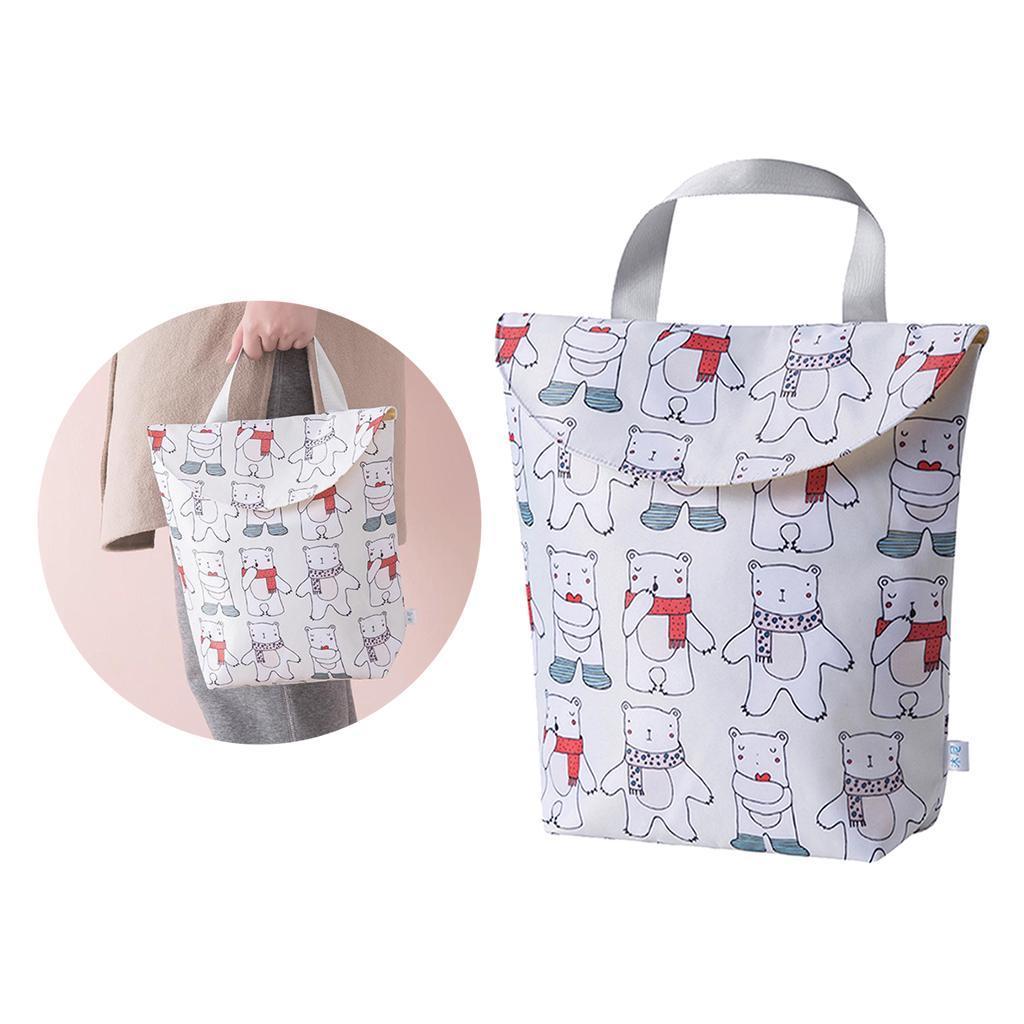 Baby-Diaper-Bag-Organizer-Fashion-Prints-Mummy-Storage-Bag-Outdoor-Reusable miniature 70