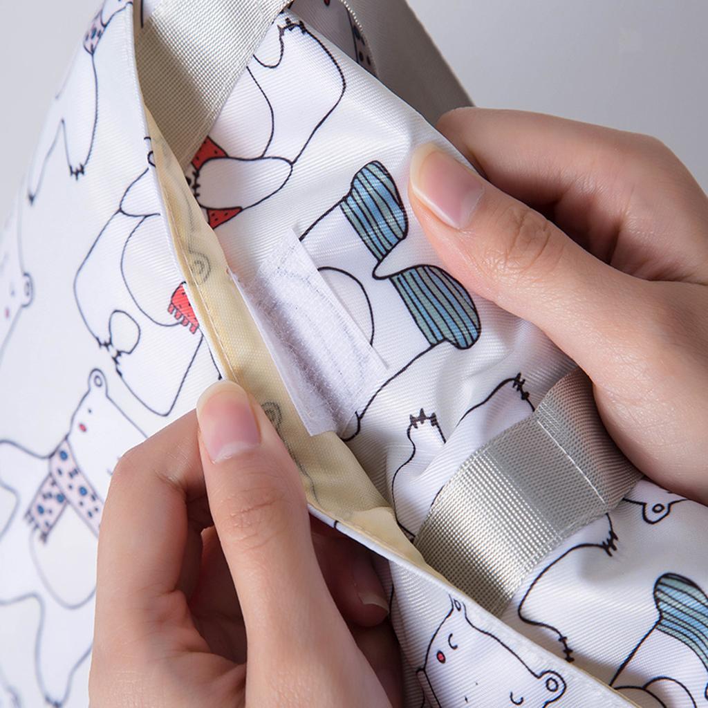 Baby-Diaper-Bag-Organizer-Fashion-Prints-Mummy-Storage-Bag-Outdoor-Reusable miniature 71