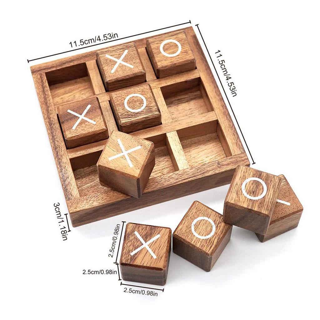 miniatura 9 - Di legno Tic Tac Toe/ Noughts e Croci Gioco Gioco di Famiglia Giochi Da