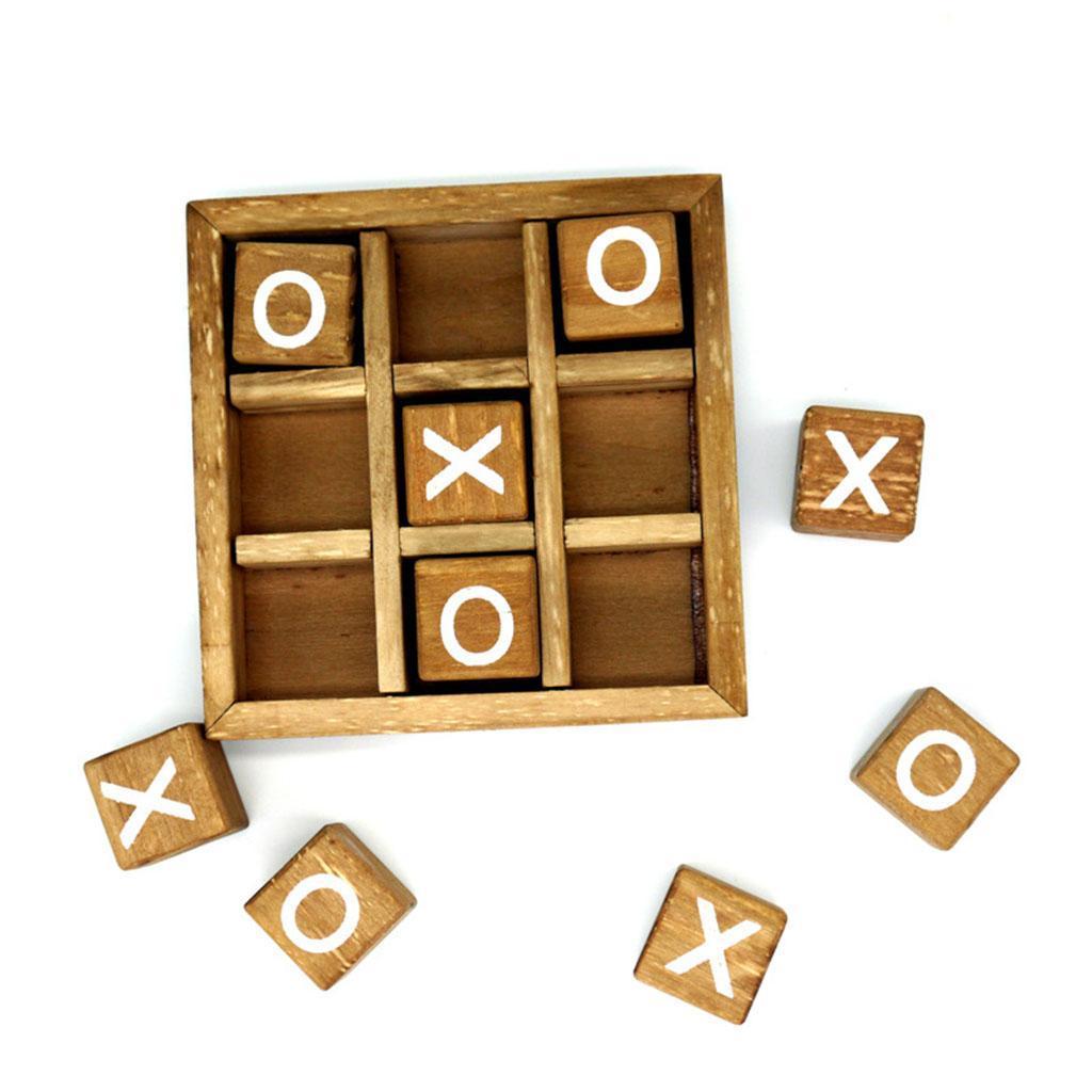 miniatura 6 - Di legno Tic Tac Toe/ Noughts e Croci Gioco Gioco di Famiglia Giochi Da