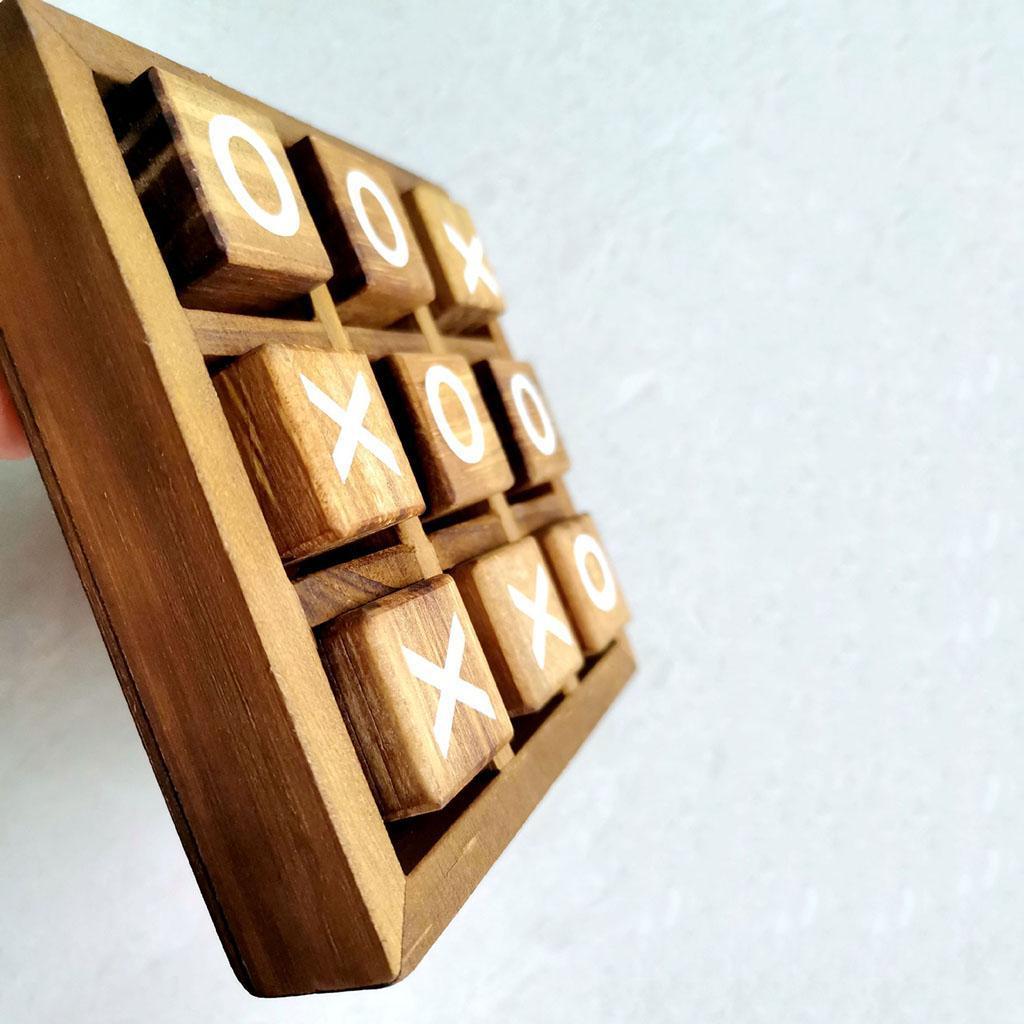 miniatura 2 - Di legno Tic Tac Toe/ Noughts e Croci Gioco Gioco di Famiglia Giochi Da