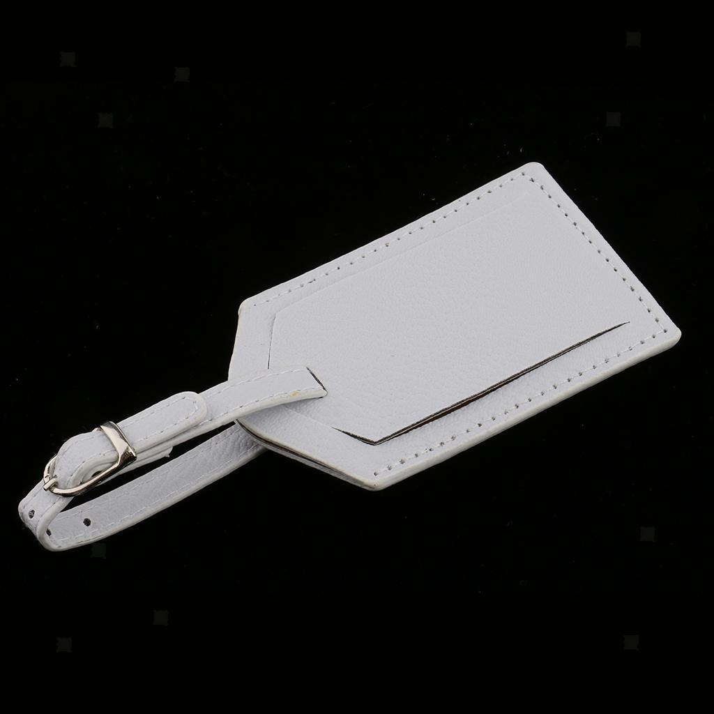 miniature 4 - Etiquette-De-Bagage-Valise-De-Voyage-En-PU-Cuir-D-039-identification