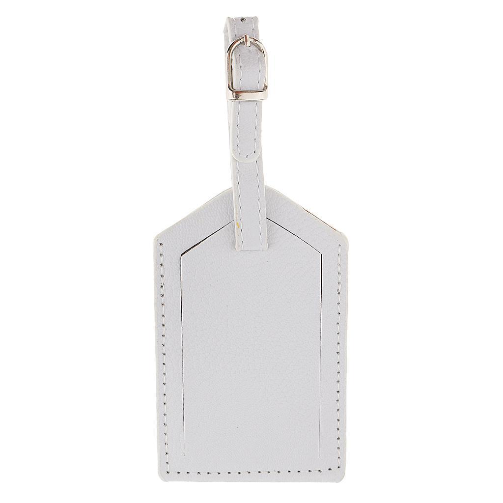 miniature 3 - Etiquette-De-Bagage-Valise-De-Voyage-En-PU-Cuir-D-039-identification