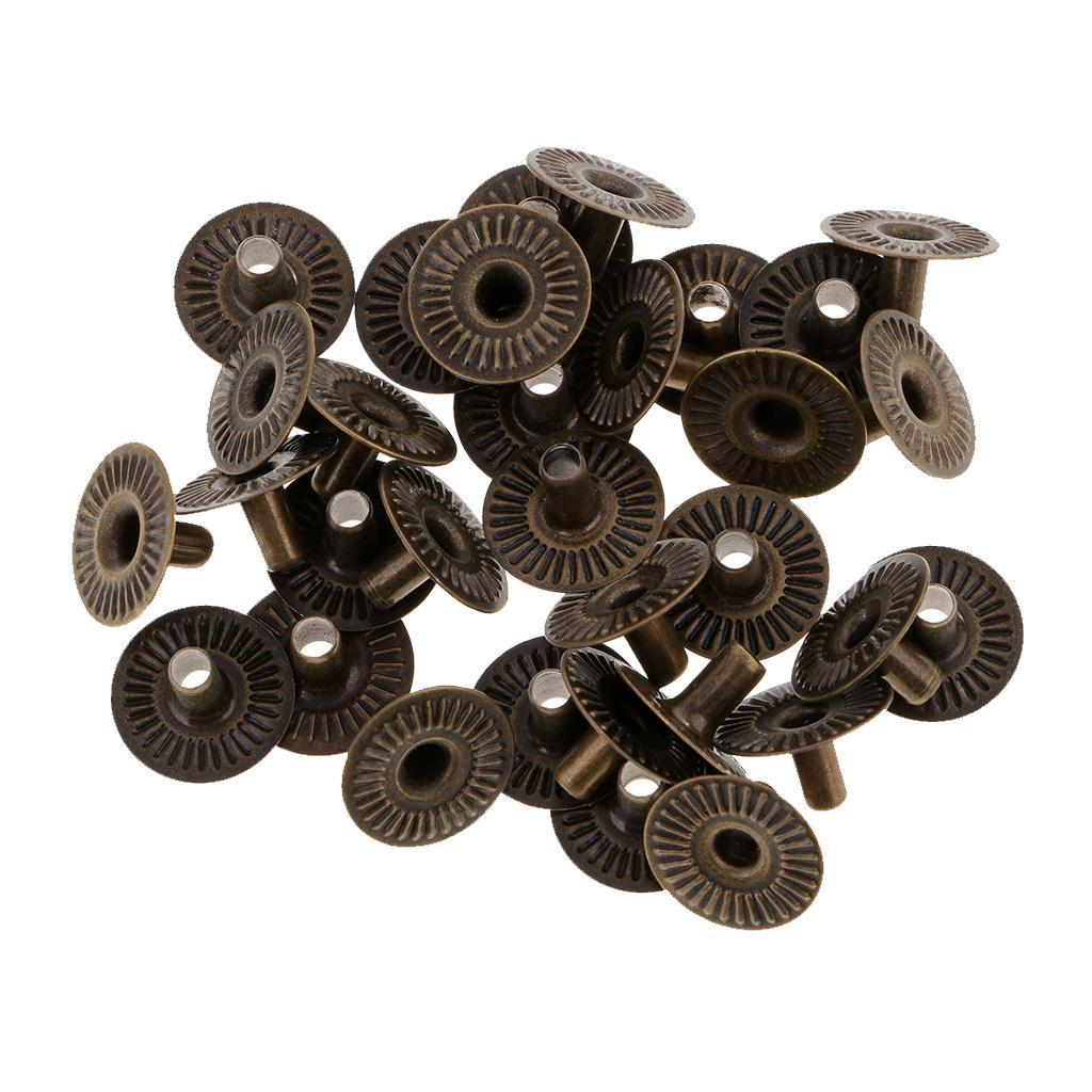 30-Sets-Vintage-Metal-Snap-Fasteners-Sewing-Button-Press-Studs-for-Leather-Craft thumbnail 21