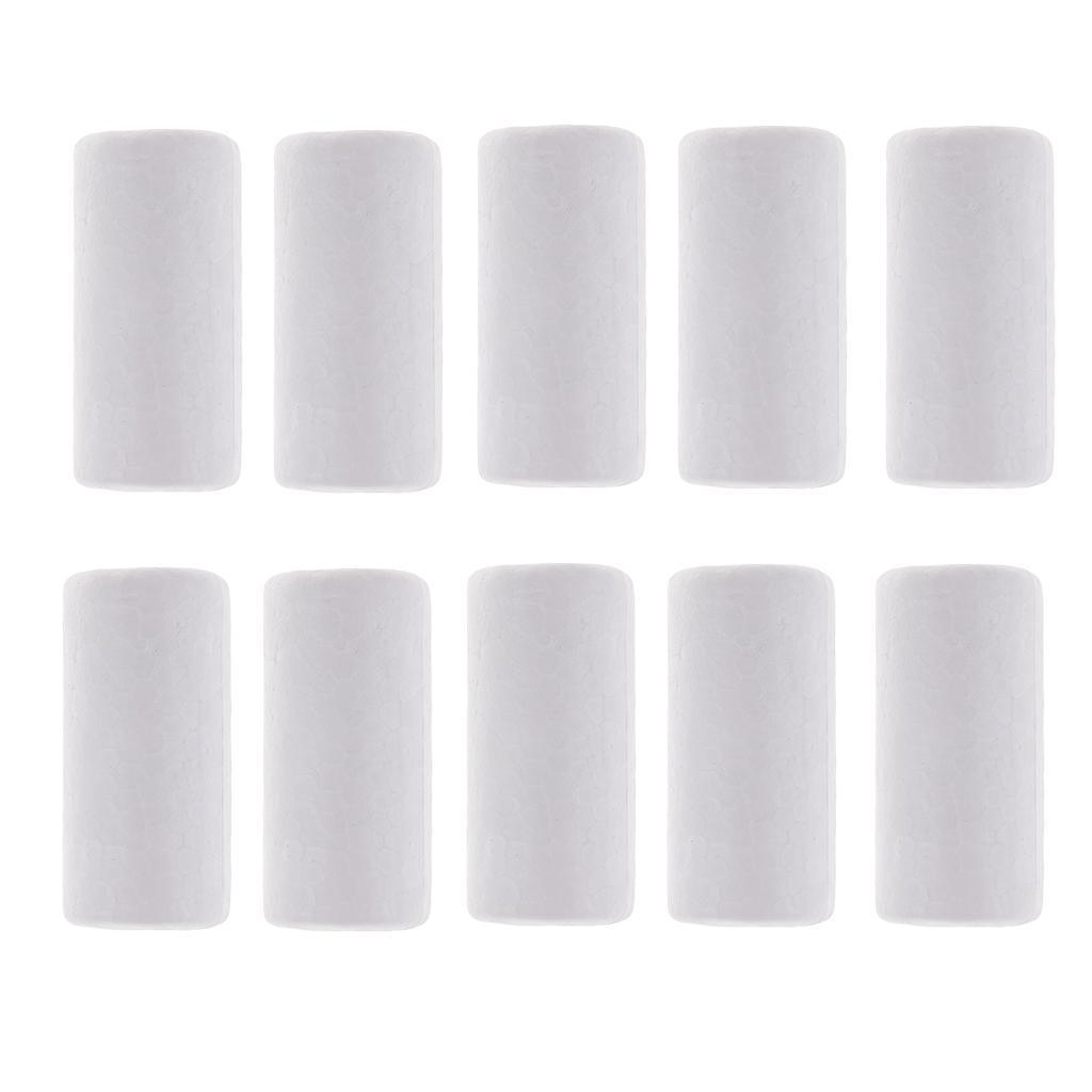 10-Stuecke-Leere-Weisse-Styropor-Zylinder-Ornamente-Fuer-Zeichnung-Malerei Indexbild 7