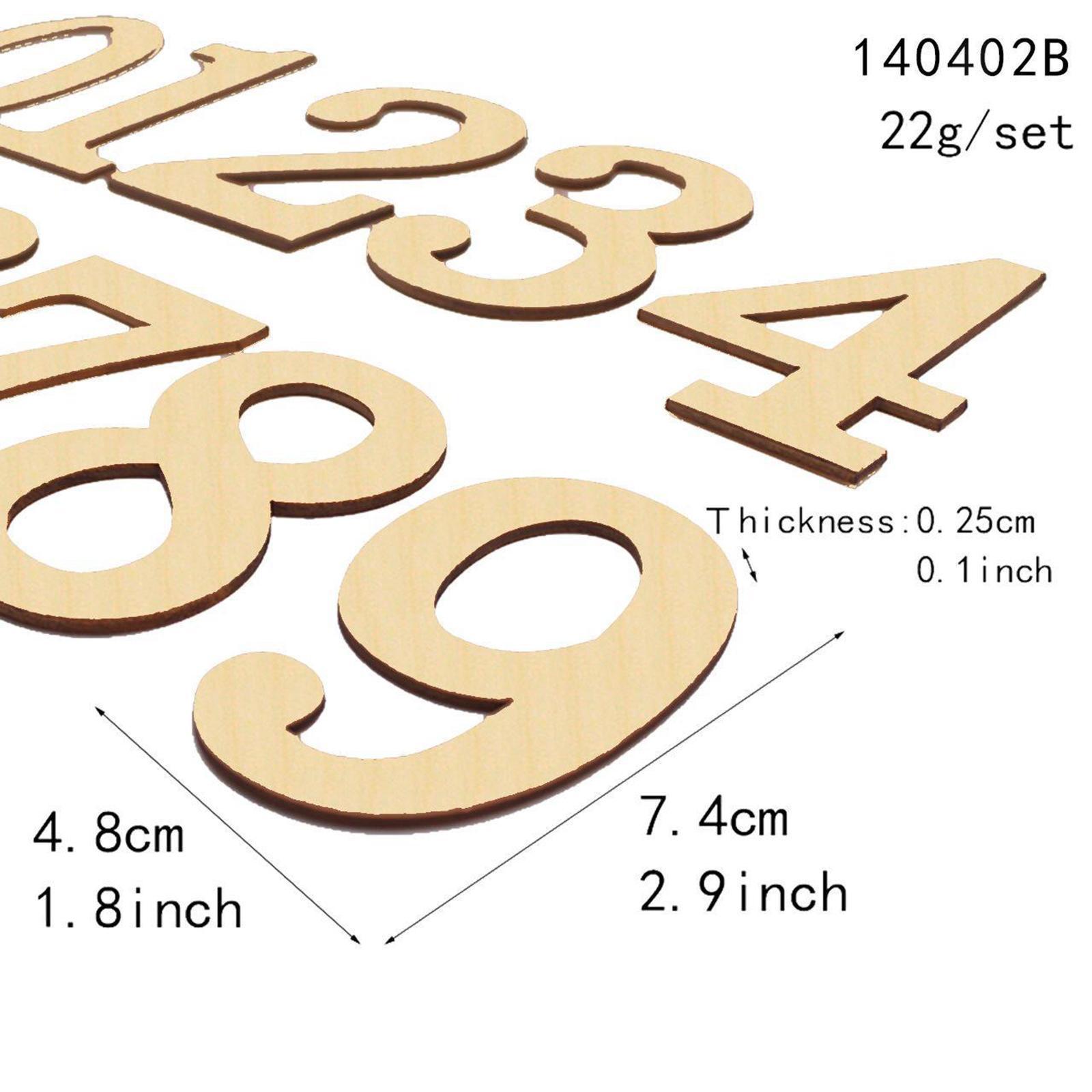 Indexbild 4 - 10-PCS-Holznummern-fuer-Heimwerker-Nummer-0-bis-9-Klebeziffern-Form-fuer