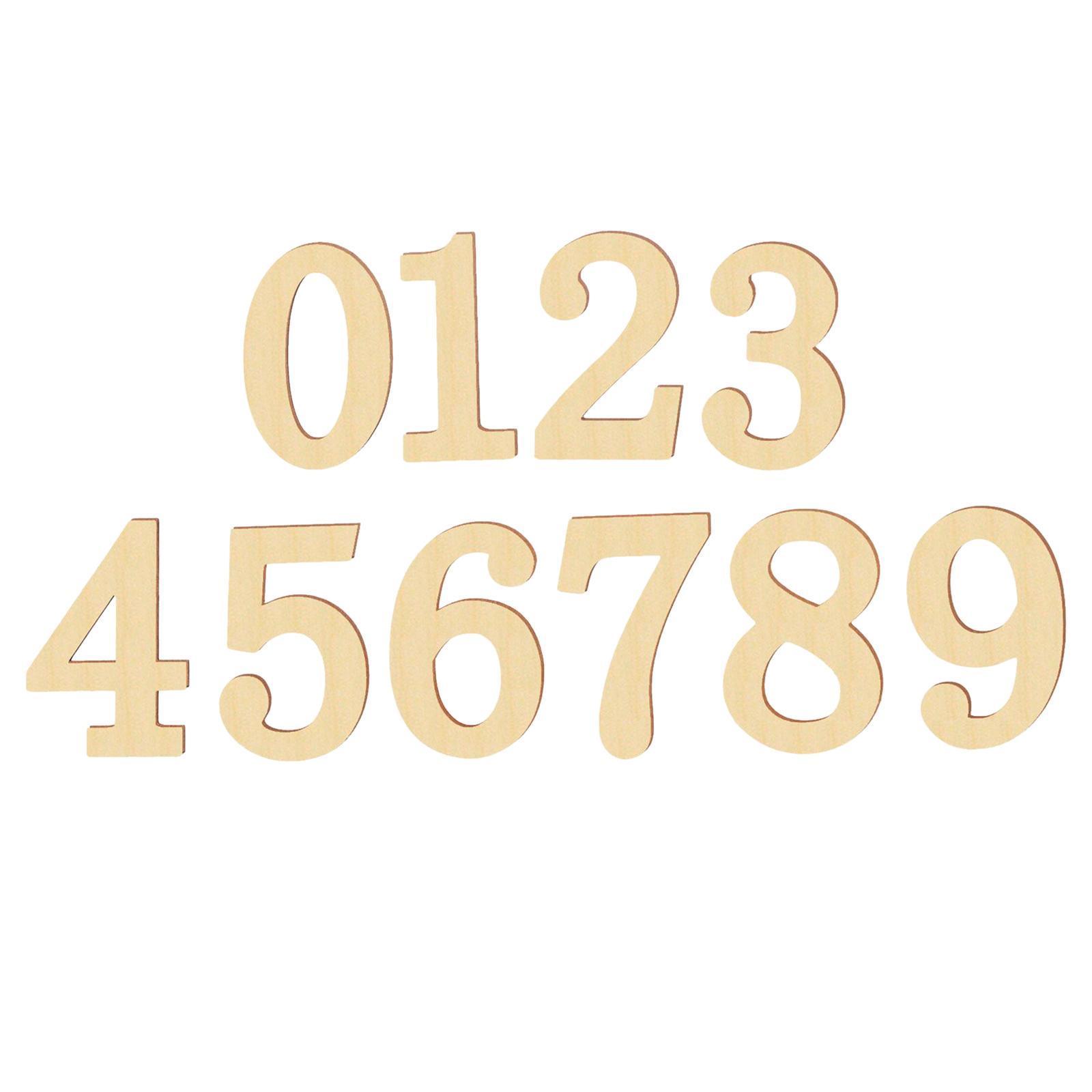 Indexbild 3 - 10-PCS-Holznummern-fuer-Heimwerker-Nummer-0-bis-9-Klebeziffern-Form-fuer