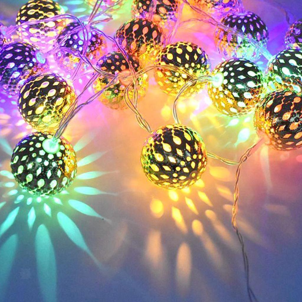 miniature 22 - 50 LED boule solaire chaîne lumières fête fée Patio extérieur jardin Hall