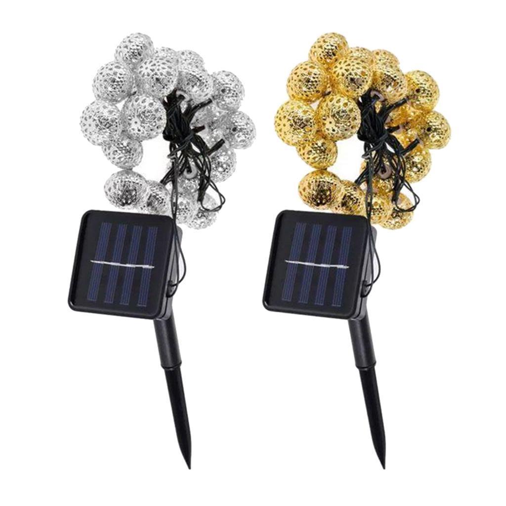 miniature 25 - 50 LED boule solaire chaîne lumières fête fée Patio extérieur jardin Hall