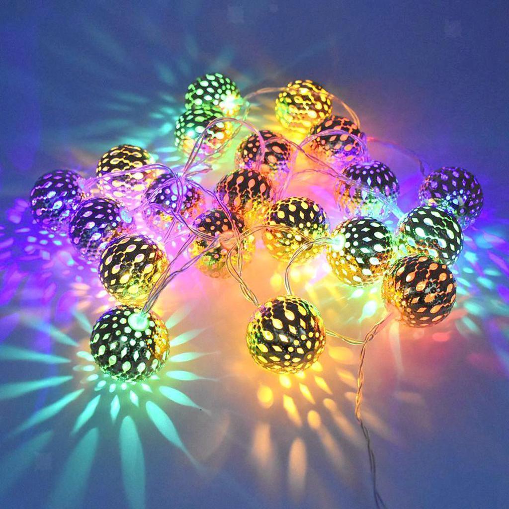 miniature 20 - 50 LED boule solaire chaîne lumières fête fée Patio extérieur jardin Hall