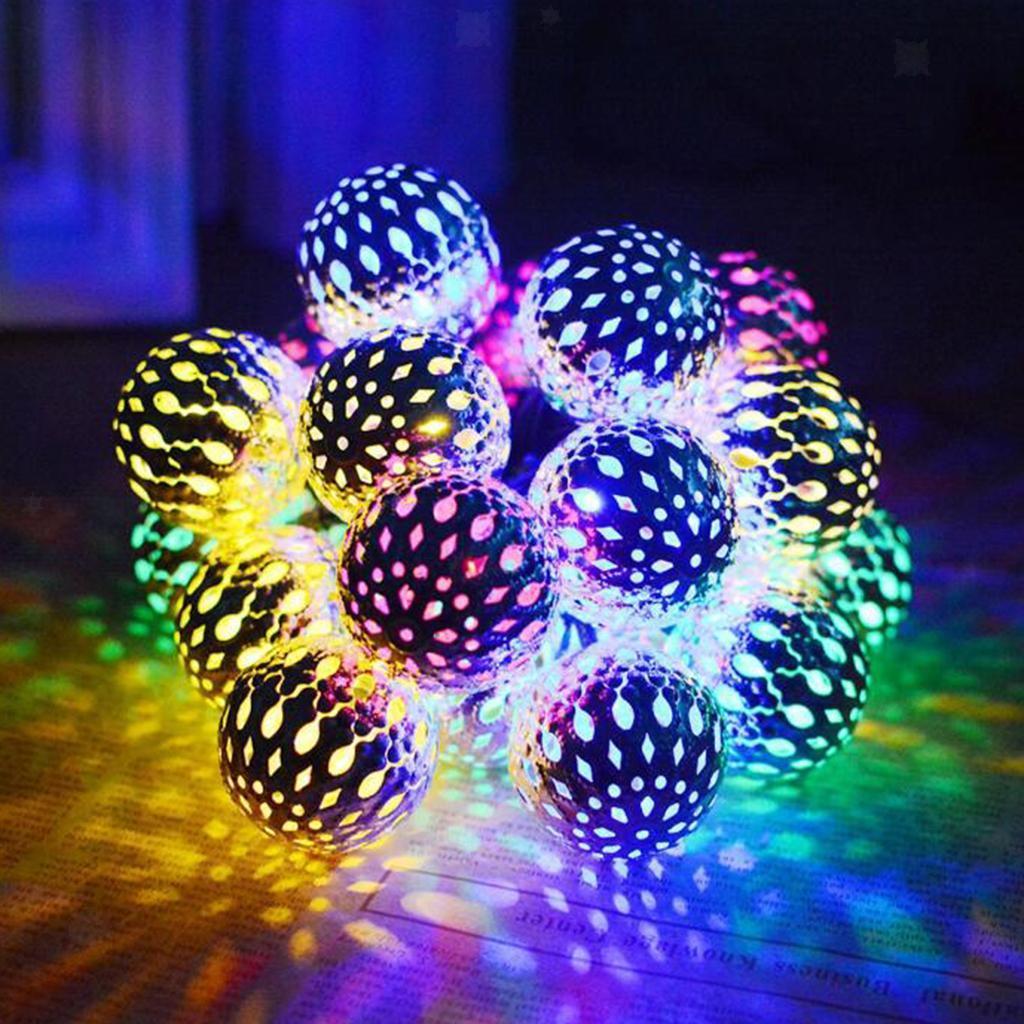 miniature 16 - 50 LED boule solaire chaîne lumières fête fée Patio extérieur jardin Hall