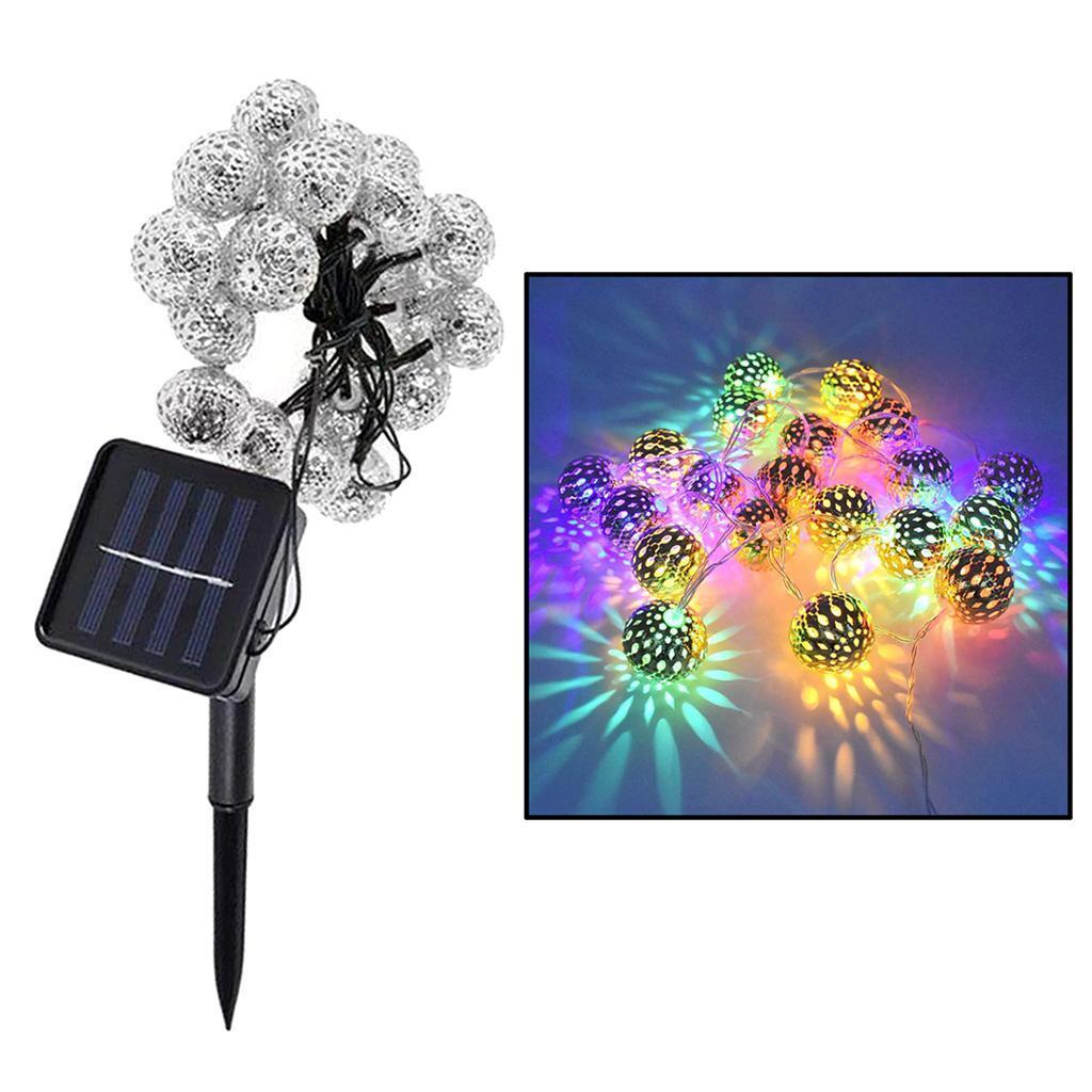 miniature 18 - 50 LED boule solaire chaîne lumières fête fée Patio extérieur jardin Hall
