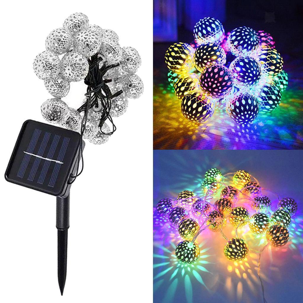 miniature 21 - 50 LED boule solaire chaîne lumières fête fée Patio extérieur jardin Hall