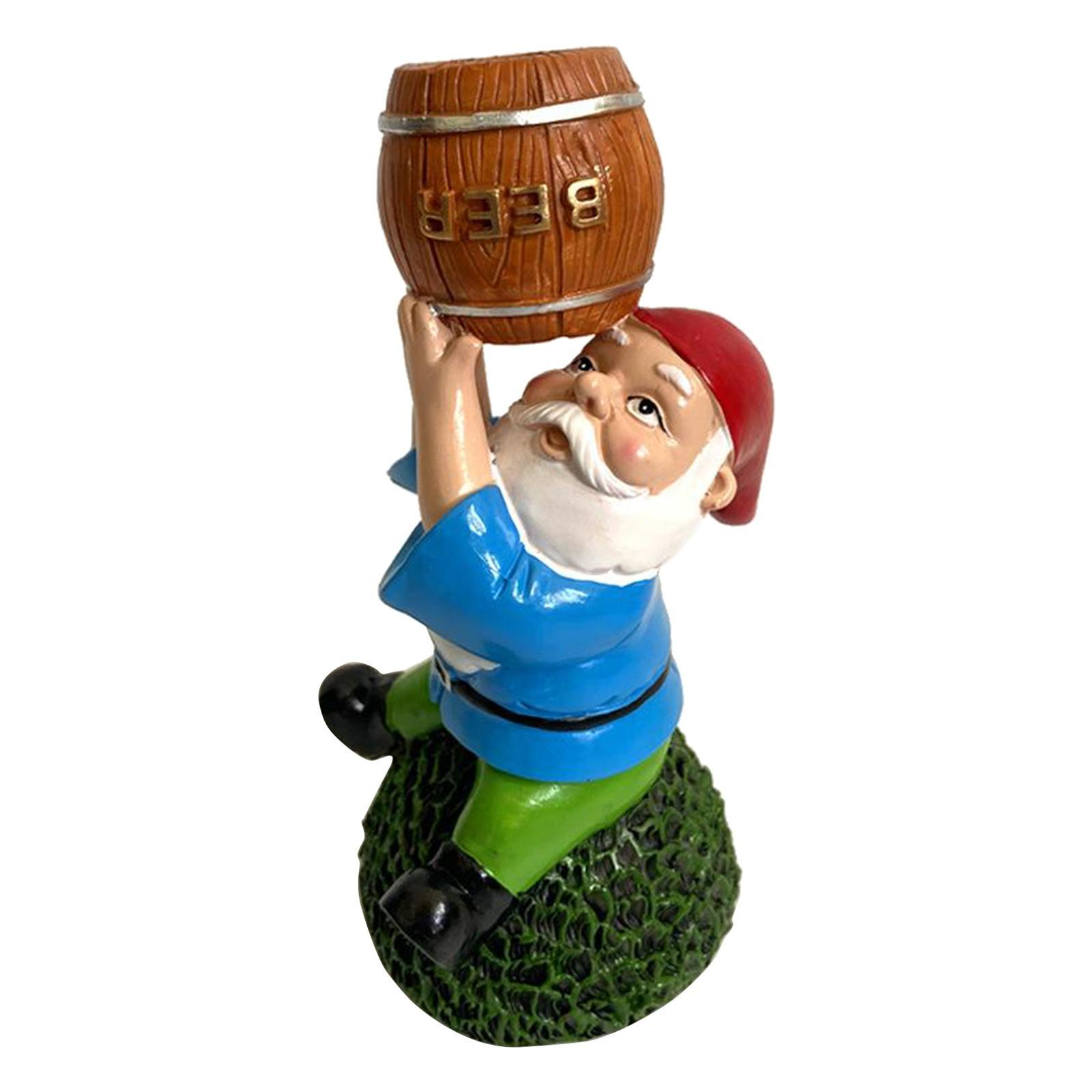 thumbnail 22 - Funny Resin Naughty Garden Gnome Statue Ornaments Outdoor Villa Home Figurines