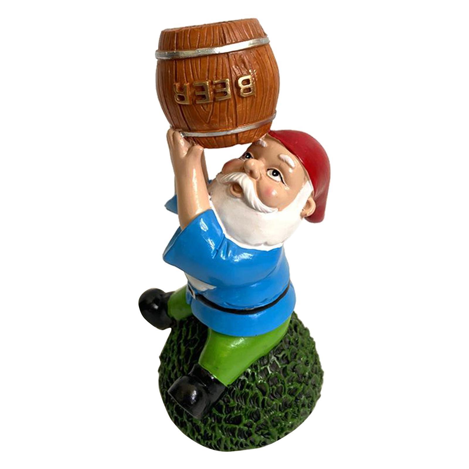 thumbnail 21 - Garden Gnome Polyresin Garden Sculpture Outdoor/Indoor Decor Funny Lawn Figurine