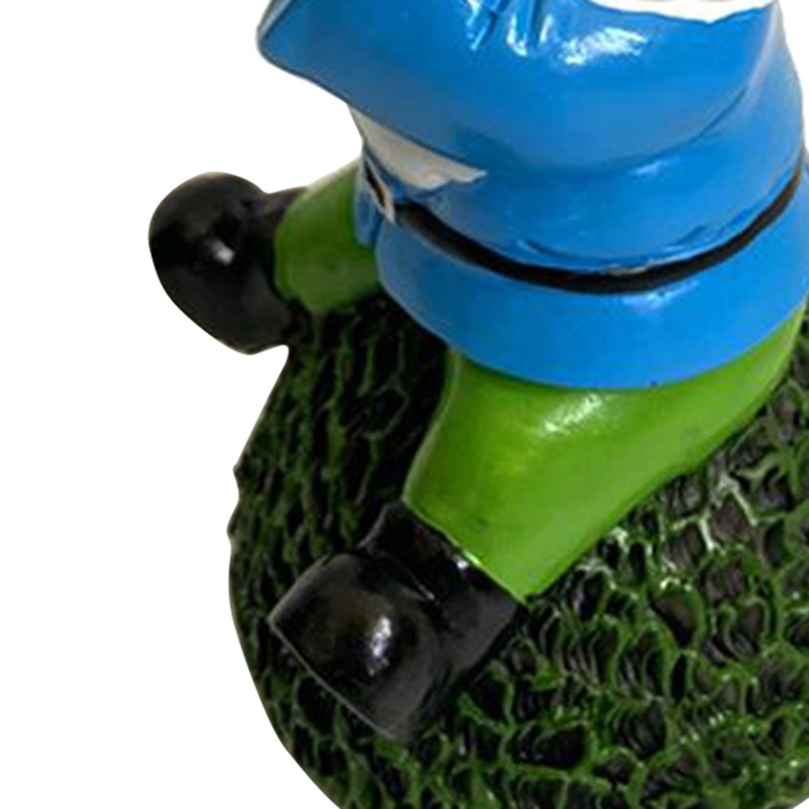 thumbnail 21 - Funny Resin Naughty Garden Gnome Statue Ornaments Villa Home Figurines Decor AU