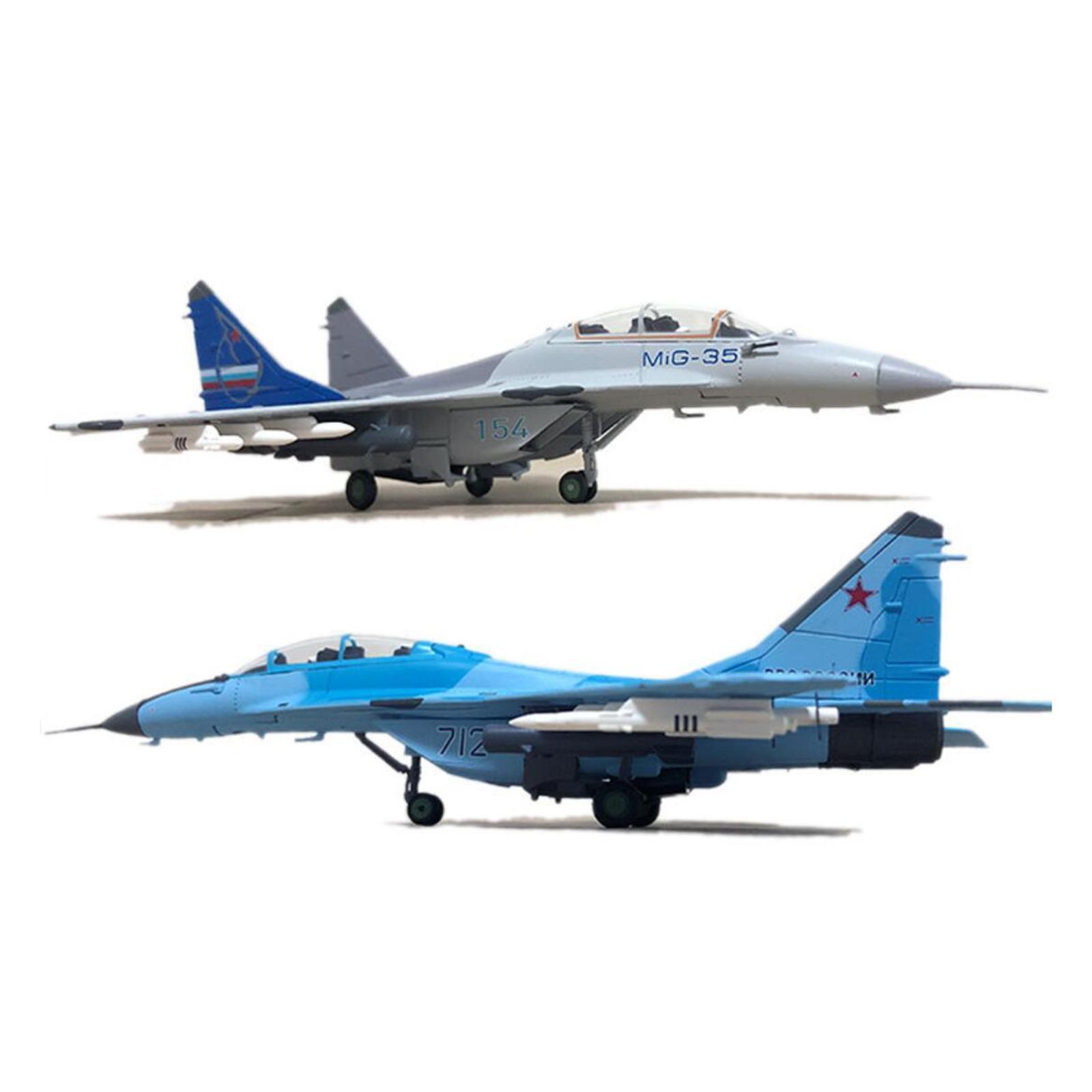 miniatura 21 - 1pc 1/100 MIG-35 Aircraft Metallo Modello di Aereo di Plastica Collezionismo