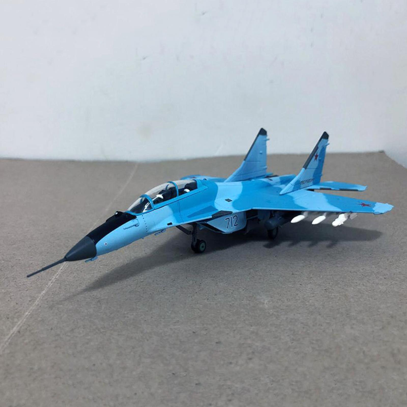 miniatura 23 - 1pc 1/100 MIG-35 Aircraft Metallo Modello di Aereo di Plastica Collezionismo