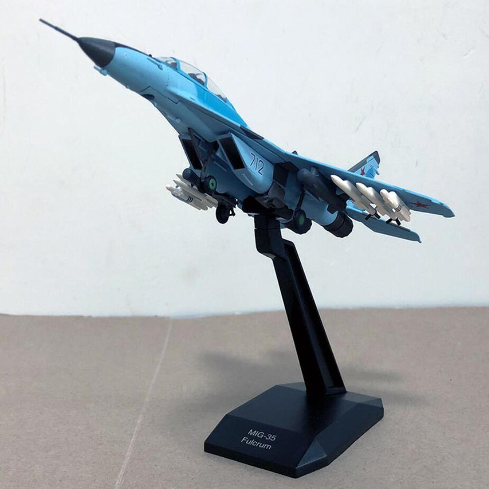 miniatura 18 - 1pc 1/100 MIG-35 Aircraft Metallo Modello di Aereo di Plastica Collezionismo