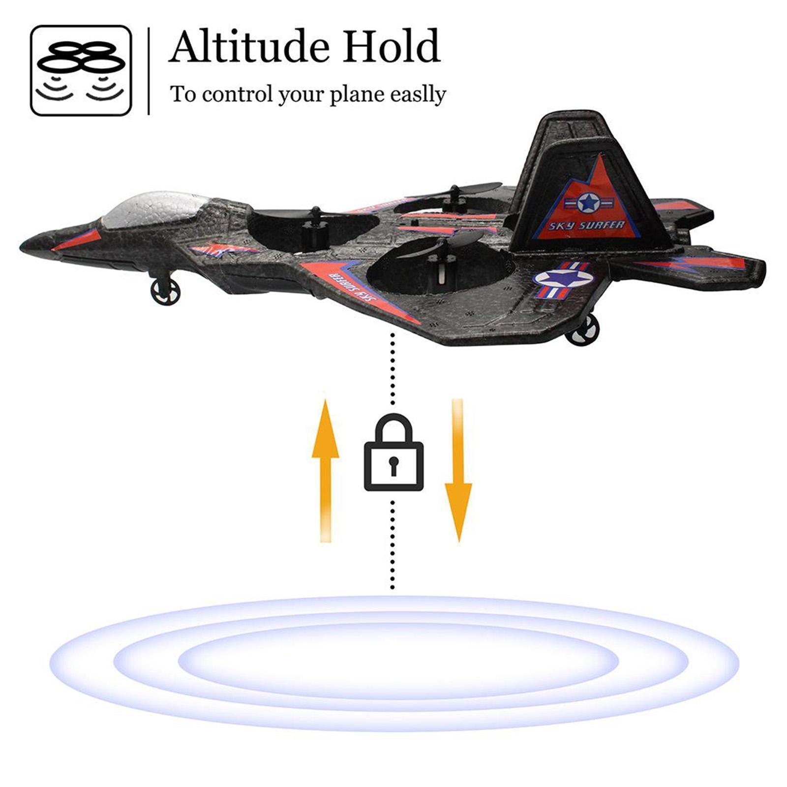 miniatura 7 - A ala fissa telecomando aereo RC aereo aeroplano modello giocattolo per bambini