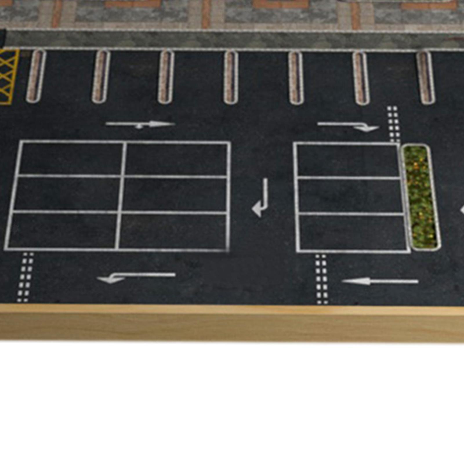 miniature 8 - En bois Diorama 1/64 Sol Parking Lot Scène pour Alliage Jouet De Voiture